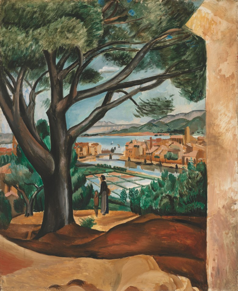André Derain (1880-1954), Les Salins de Martigues, 1913. Oil on panel. 28¾ x 23½ in (73.1 x 59.8 cm). Estimate £50,000-70,000. Offered in Joie de Vivre Modern Art and the Riviera, 30 June to 17 July 2020, Online