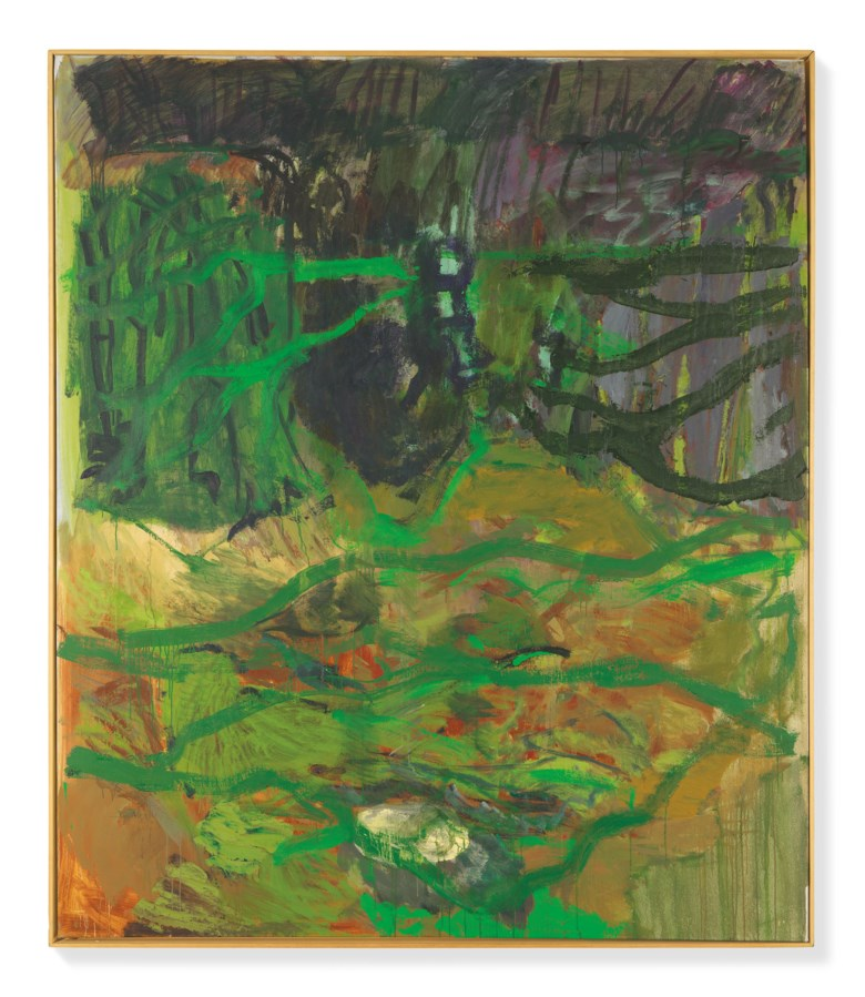Per Kirkeby (1938-2018), Mild Vinter II, 1989. Oil on canvas. 78⅞ x 67⅛ in (200.5 x 170.5 cm). Estimate £200,000-300,000. Offered in  The World Is A Sphere Art from the Faurschou Foundation, 3-16 July 2020, Online