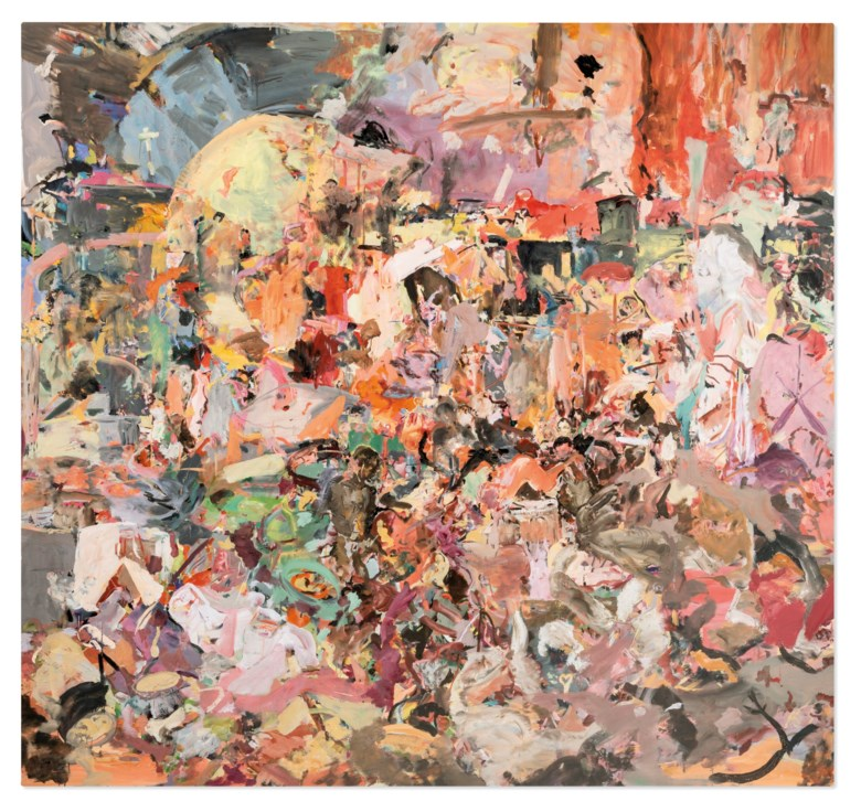 Cecily Brown (b. 1969), Carnival and Lent, 2006-2008. Oil on linen. 97 x 103 in (246.4 x 261.6 cm). Estimate £4,000,000-6,000,000. Offered in ONE A Global Sale of the 20th Century on 10 July 2020 at Christie's in London