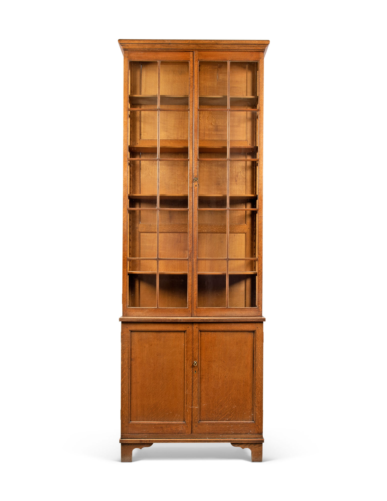 A SCOTTISH ARTS AND CRAFTS OAK LIBRARY BOOKCASE