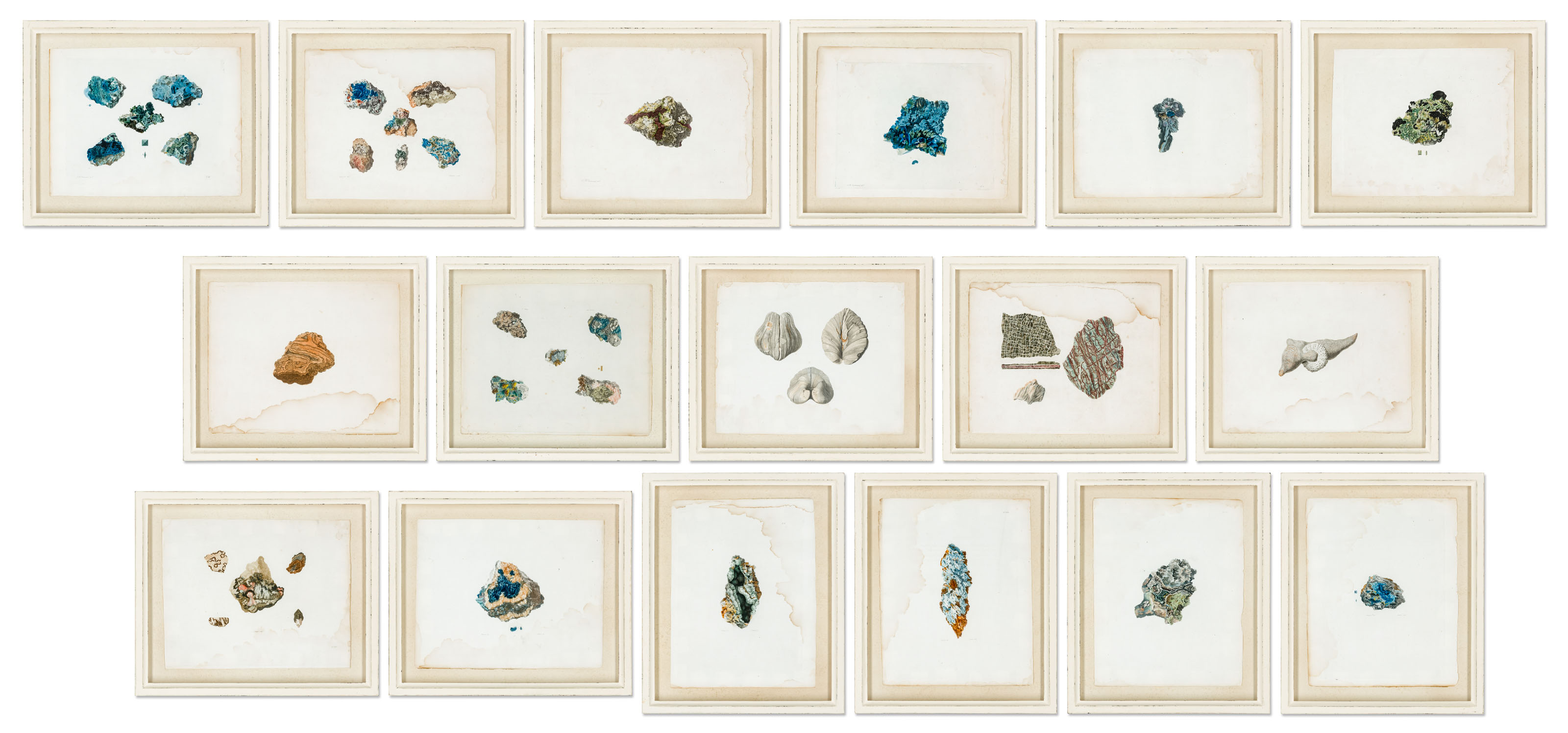 A SET OF SEVENTEEN COLOURED-ENGRAVINGS OF MINERALS