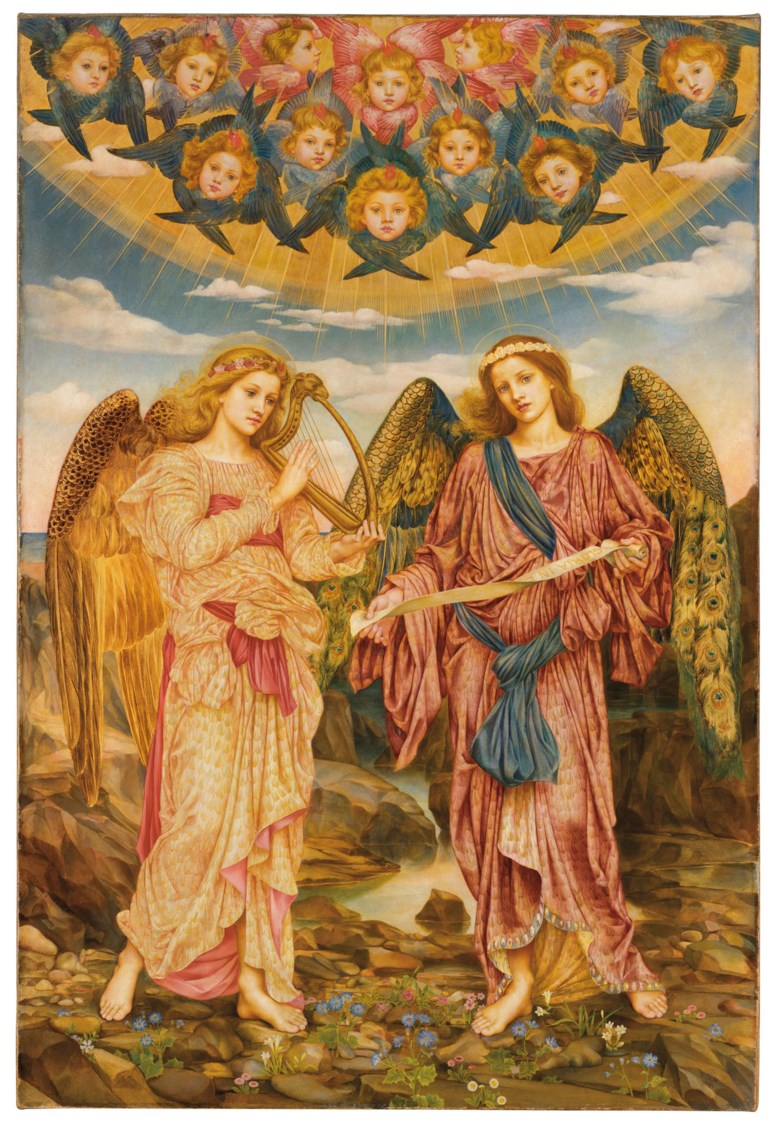 Evelyn De Morgan (1855-1919), Gloria in Excelsis, 1893. Oil on canvas. 46½ x 31⅛ in (118 x 79.3 cm). Sold for £622,500 in The Joe Setton Collection from Pre-Raphaelites to Last Romantics on 10 December 2020 at Christie's in London