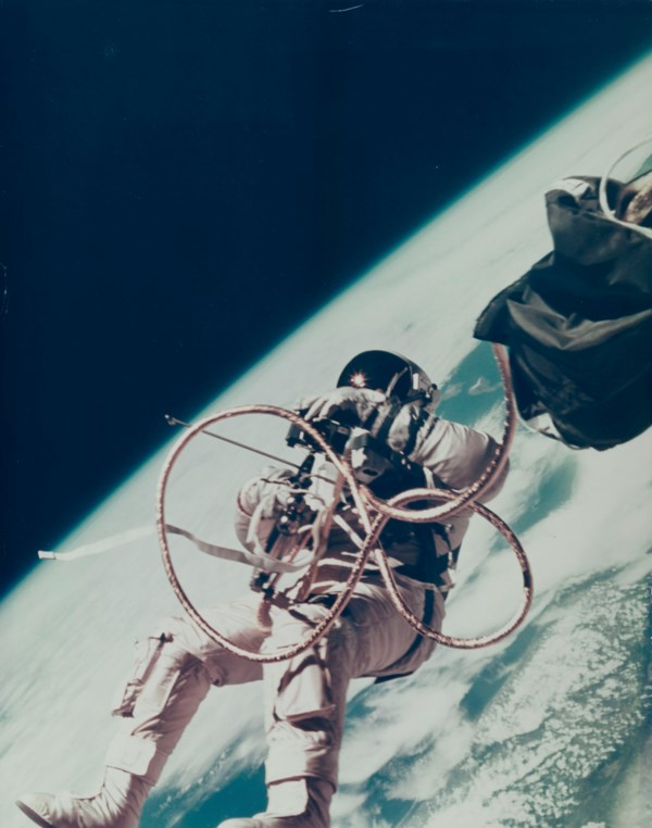 First US Spacewalk [Large Format]; Ed White floating in space over south California, June 3-7, 1965