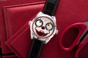 KONSTANTIN CHAYKIN, LIMITED EDITION STEEL CLOWN WATCH, NO 18