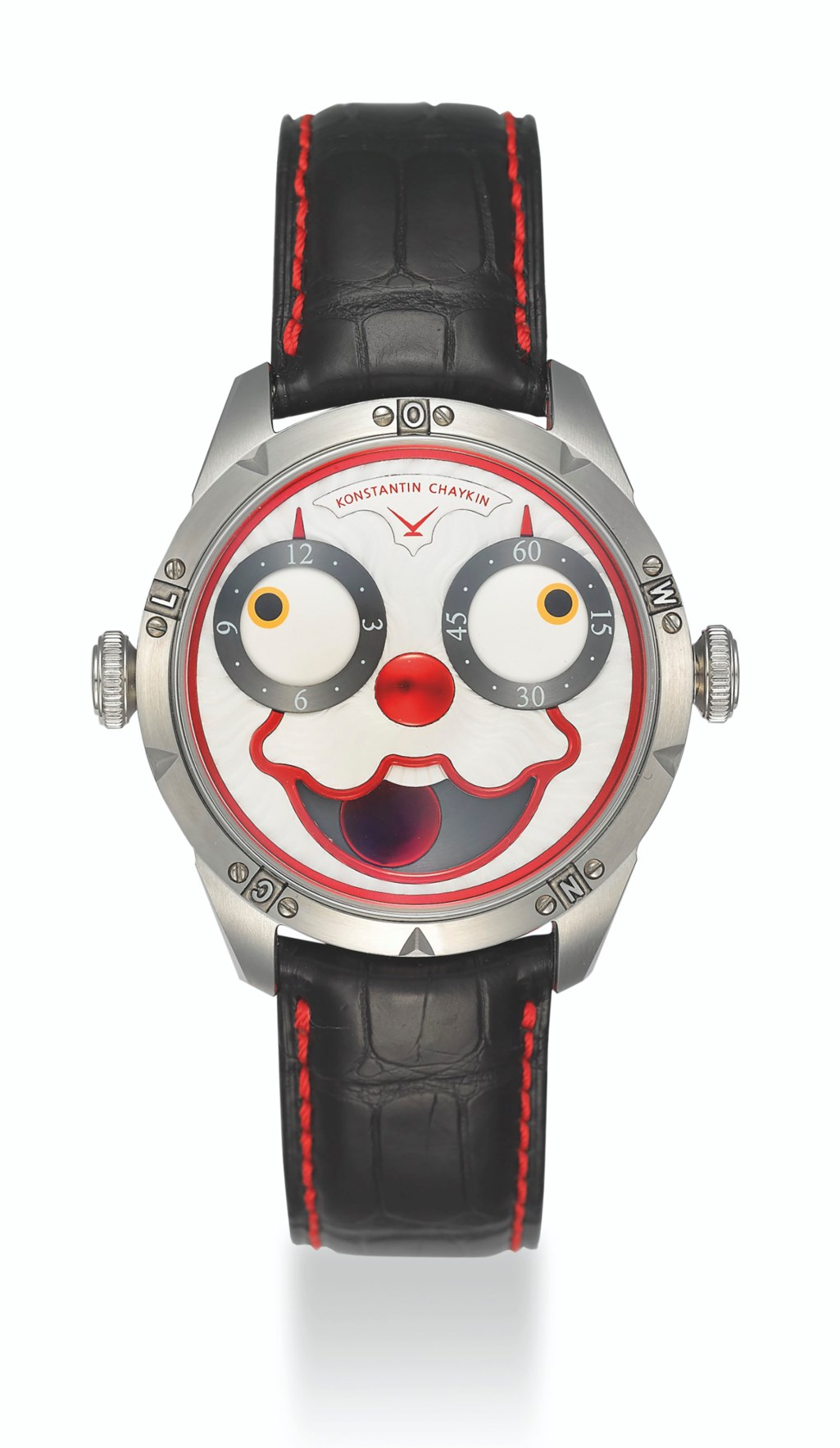 KONSTANTIN CHAYKIN, LIMITED EDITION STEEL CLOWN WATCH, NO. 18/27
