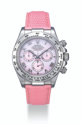 ROLEX, WHITE GOLD BEACH DAYTONA WITH PINK MOTHER-OF-PEARL DI