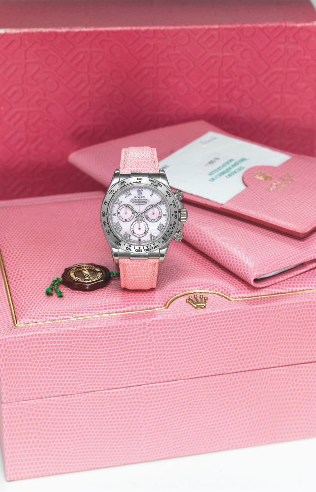 ROLEX, WHITE GOLD BEACH DAYTONA WITH PINK MOTHER-OF-PEARL DIAL, REF. 116519