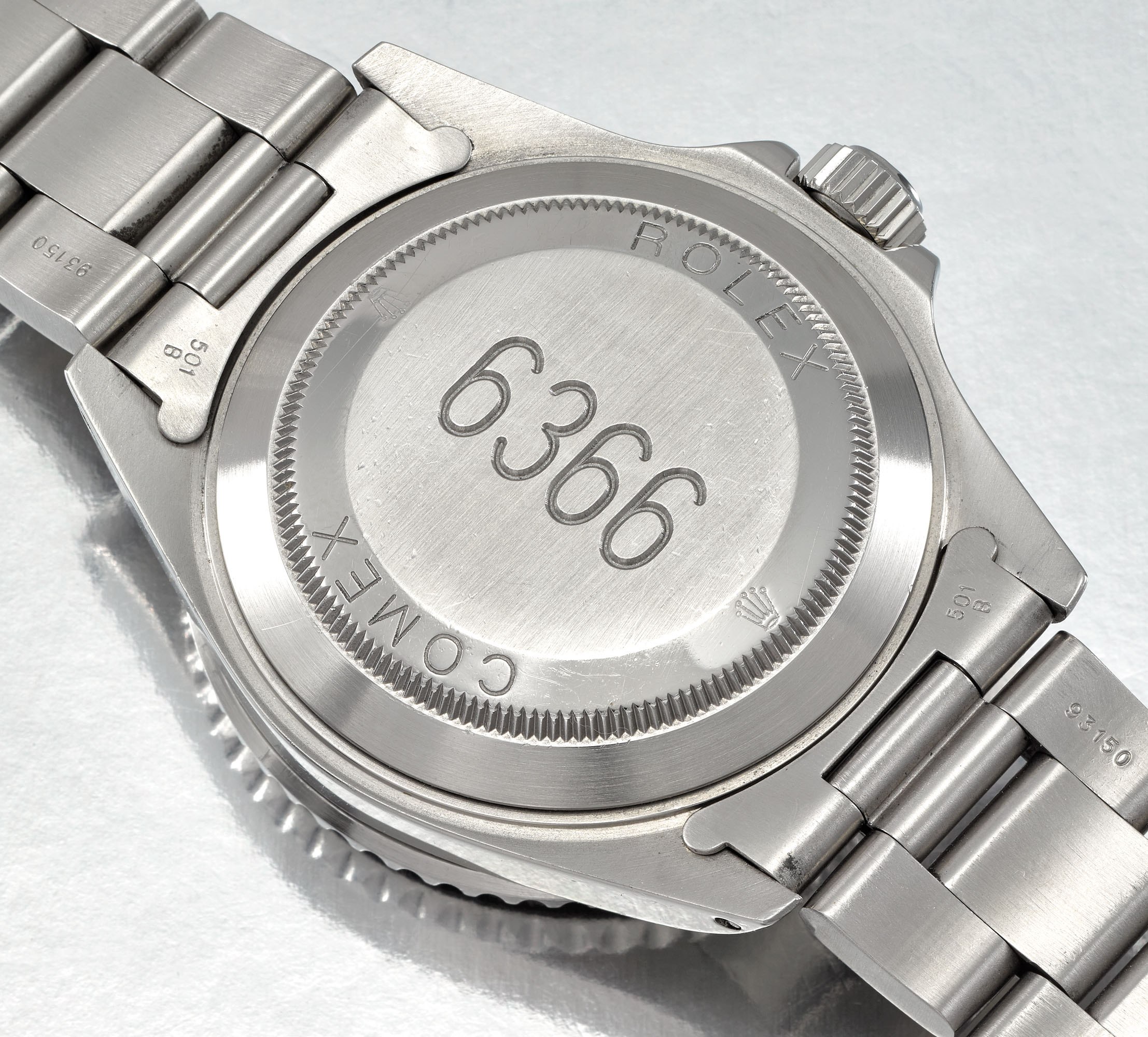 ROLEX. A VERY RARE STAINLESS STEEL AUTOMATIC WRISTWATCH WITH SWEEP CENTRE SECONDS, DATE AND BRACELET, MADE FOR COMEX