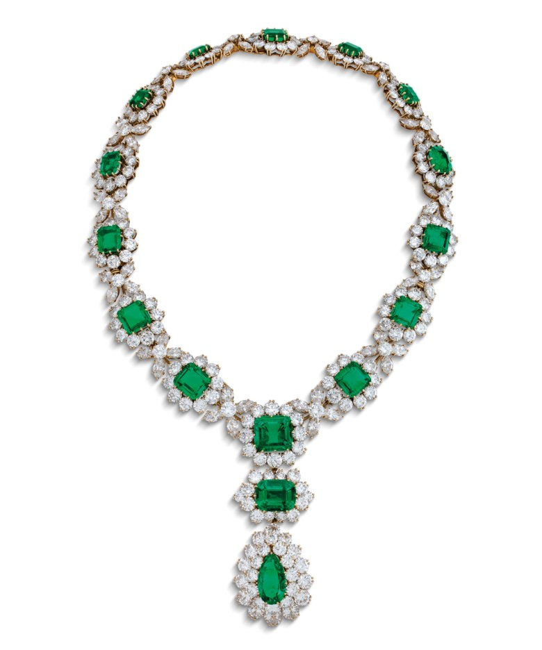 Magnificent emerald and diamond necklace, by Bulgari. Sold for CHF 1,770,000 on 10 November 2020 at Christie's in Geneva