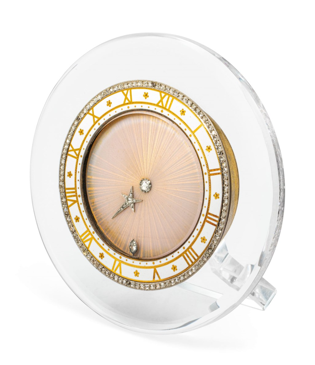 EARLY 20TH CENTURY 'COMET' SEMI-MYSTERY CLOCK, CARTIER