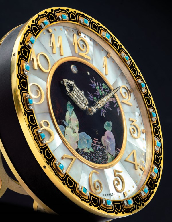 ART DECO DESK CLOCK, CARTIER
