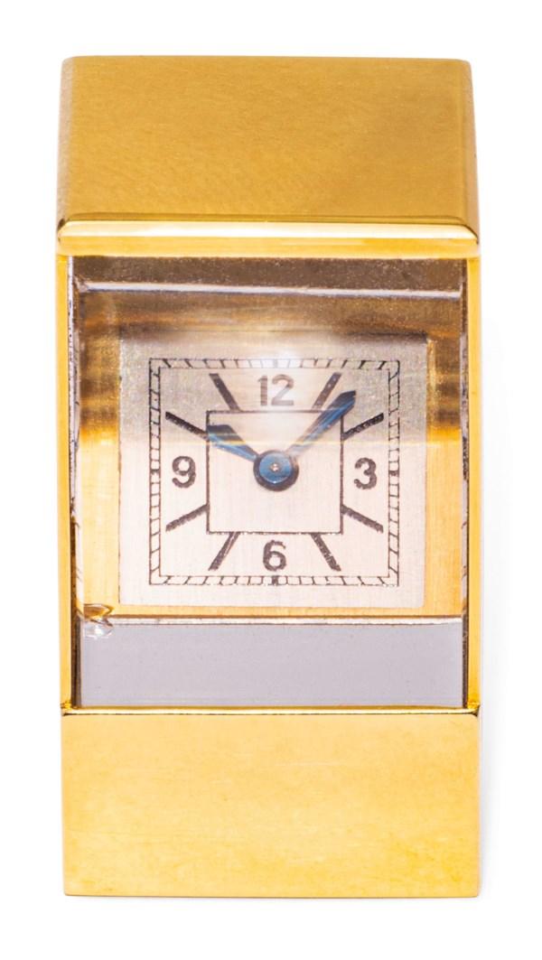 MINIATURE PRISM CLOCK, CARTIER