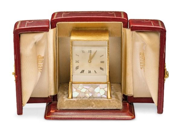 MID-20TH CENTURY PRISM CLOCK, CARTIER