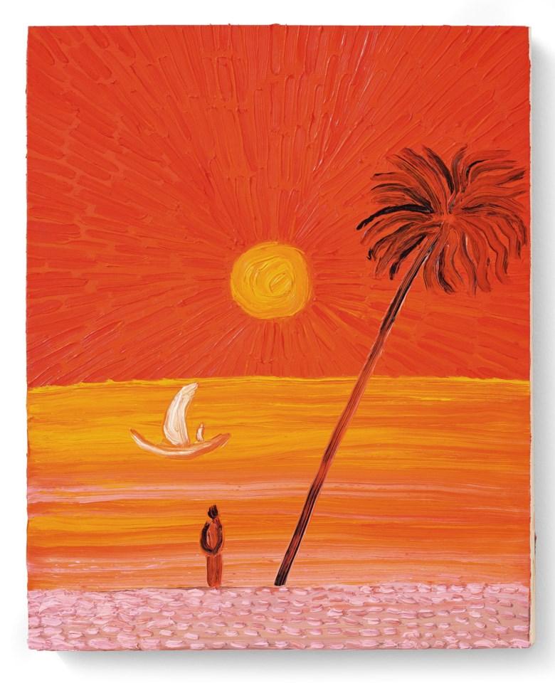 王俊傑(1984-2019),《歸途》,2017年作。油彩 木板(三聯作)。單幅:19⅞ x 16 英寸(50.5 x 40.5 公分)。估價︰700,000-1,500,000港元。此作將於2020年12月2日在佳士得香港現代及當代藝術晚間拍賣中呈獻