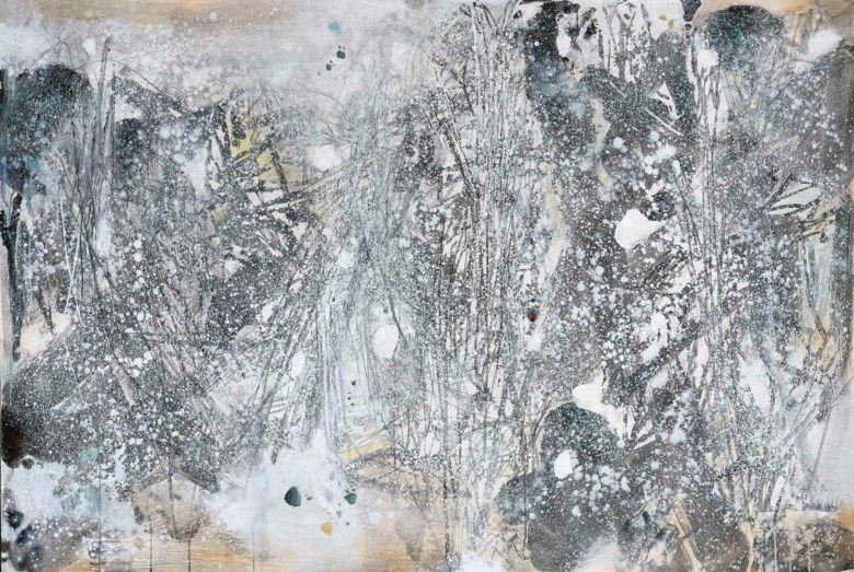 Chu Teh-Chun (1920-2014), La Forêt Blanche I (The White Forest I), 1987. Oil on canvas. 130 x 195.5 cm (51⅛ x 77 in). Estimate HK$35,000,000-55,000,000. Offered in the Modern and Contemporary Art Evening Sale on 2 December 2020 at Christie's in Hong Kong