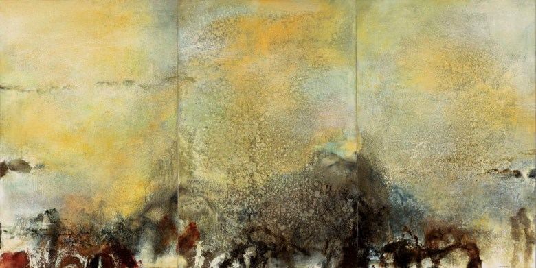 ZAO WOU-KI (ZHAO WUJI, 1920-2013), 15.01.82 - Triptyque, 1982. oil on canvas (triptych). each 195 x 130 cm. (76 34 x 51 18 in.) (3). 