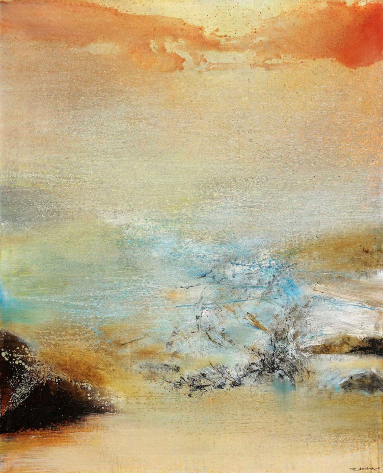 Zao Wou-Ki (1920-2013), 04.12.85, 1985. Oil on canvas. 100 x 81 cm (39⅜ x 31⅞ in). Estimate HK$8,000,000-12,000,000. Offered in Modern and Contemporary Art Afternoon Session on 3 December 2020 at Christie's in Hong Kong
