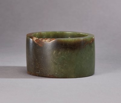 A CELADON JADE BANGLE
