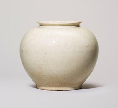 A WHITE-GLAZED JAR