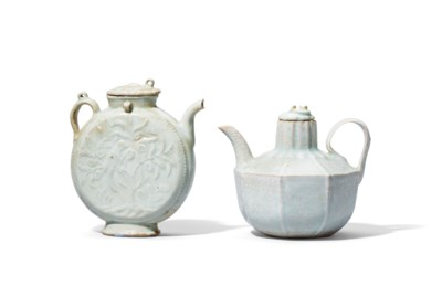 TWO SMALL MOULDED AND CARVED E