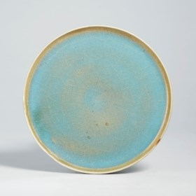A JUN SKY-BLUE GLAZED DISH