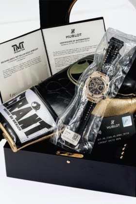 HUBLOT AN EXTREMELY RARE 18K GOLD AND DIAMOND-SET LIMITED ED