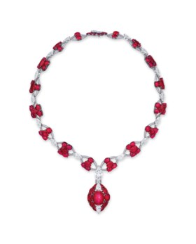MAGNIFICENT STAR RUBY AND DIAMOND NECKLACE, ETCETERA