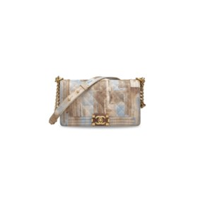 A CUBA CRUISE COLLETION WATERCOLOR PRINTED CAVIAR LEATHER ME
