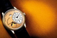 F.P. JOURNE. A VERY RARE PLATINUM AUTOMATIC WRISTWATCH WITH MOON PHASES, DATE AND POWER RESERVE