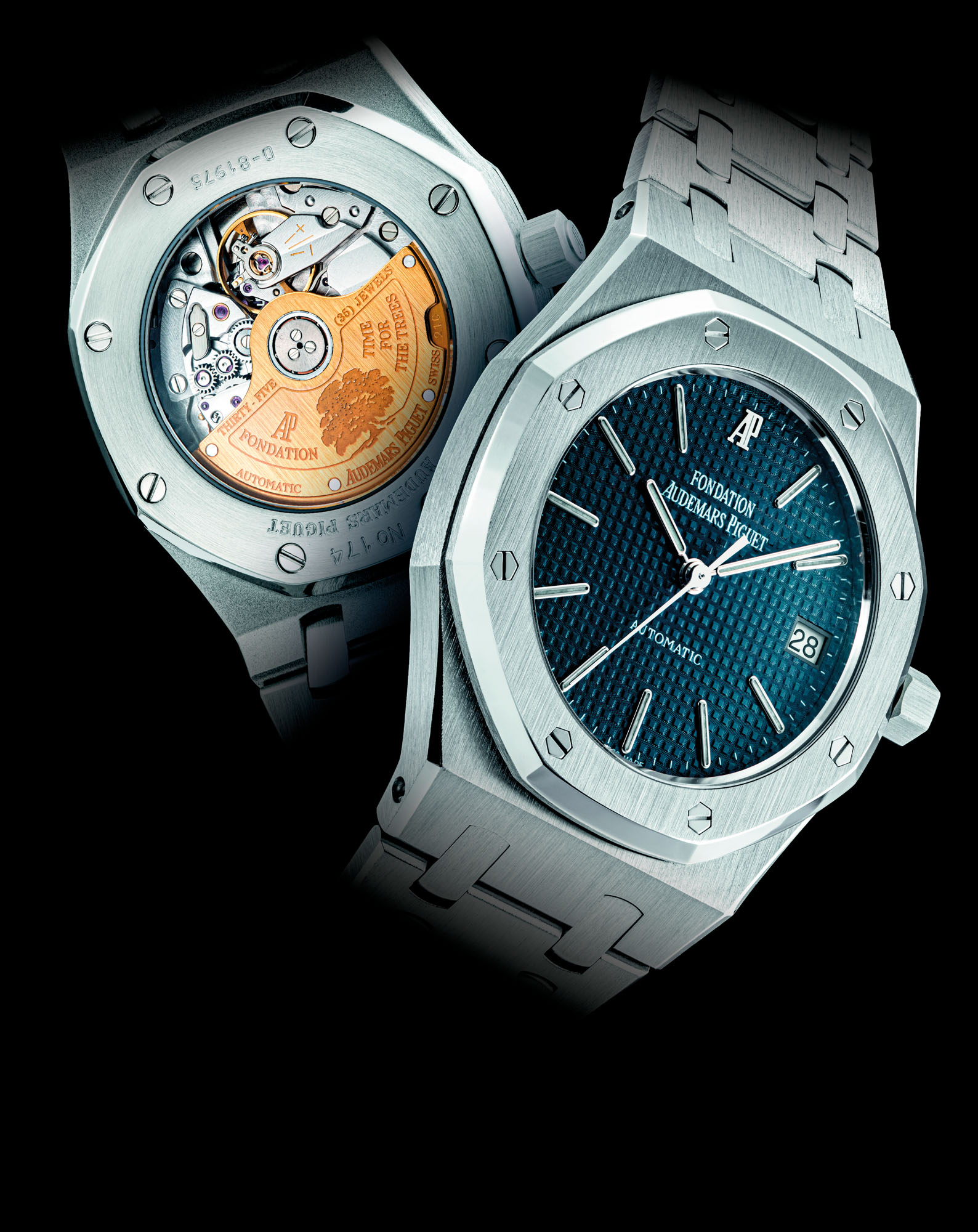 AUDEMARS PIGUET. A STAINLESS STEEL LIMITED EDITION AUTOMATIC WRISTWATCH WITH SWEEP CENTRE SECONDS, DATE AND BRACELET