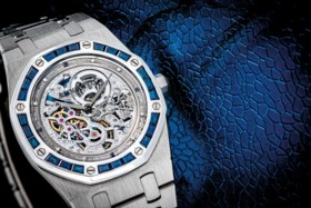 AUDEMARS PIGUET A STUNNING AND UNIQUE PLATINUM, DIAMOND AND