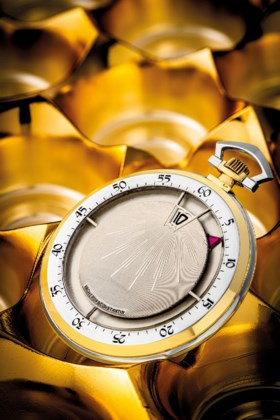 VACHERON CONSTANTIN A SUPERB AND EARLY TWO COLOUR GOLD JUMP
