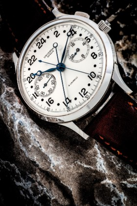 UNIVERSAL AN EXTREMELY RARE OVERSIZED STAINLESS STEEL MILITA