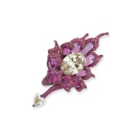 DIAMOND AND COLOURED SAPPHIRE 'PHOENIX' RING, WALLACE CHAN