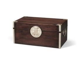 A ZITAN RECTANGULAR DOCUMENT BOX