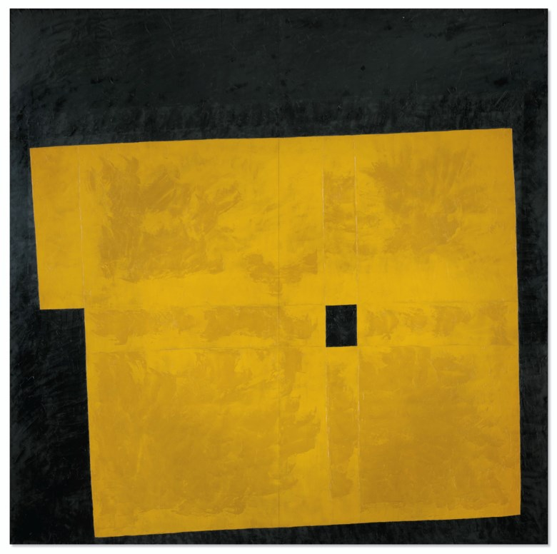 Takeo Yamaguchi (1902-1983), Yellow Quadrangle, 1959. Oil on board. 72 x 72  in (183 x 183  cm). Sold for HK$15,125,000 on 10 July 2020 at Christie's in Hong Kong. © 2020 Artists Rights Society (ARS), New York  ADAGP, Paris