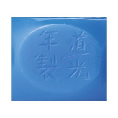 A PALE COBALT-BLUE GLASS FACET