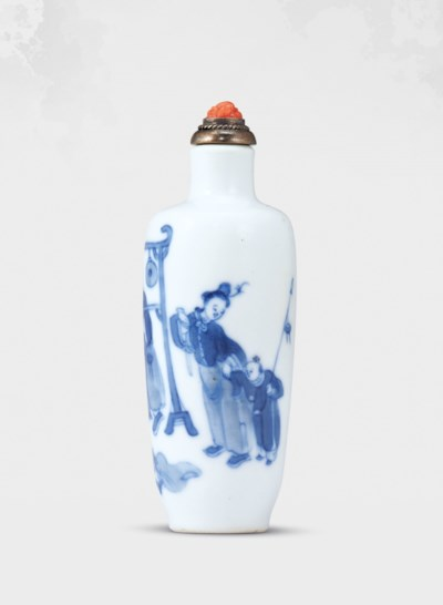 A BLUE AND WHITE PORCELAIN 'ST