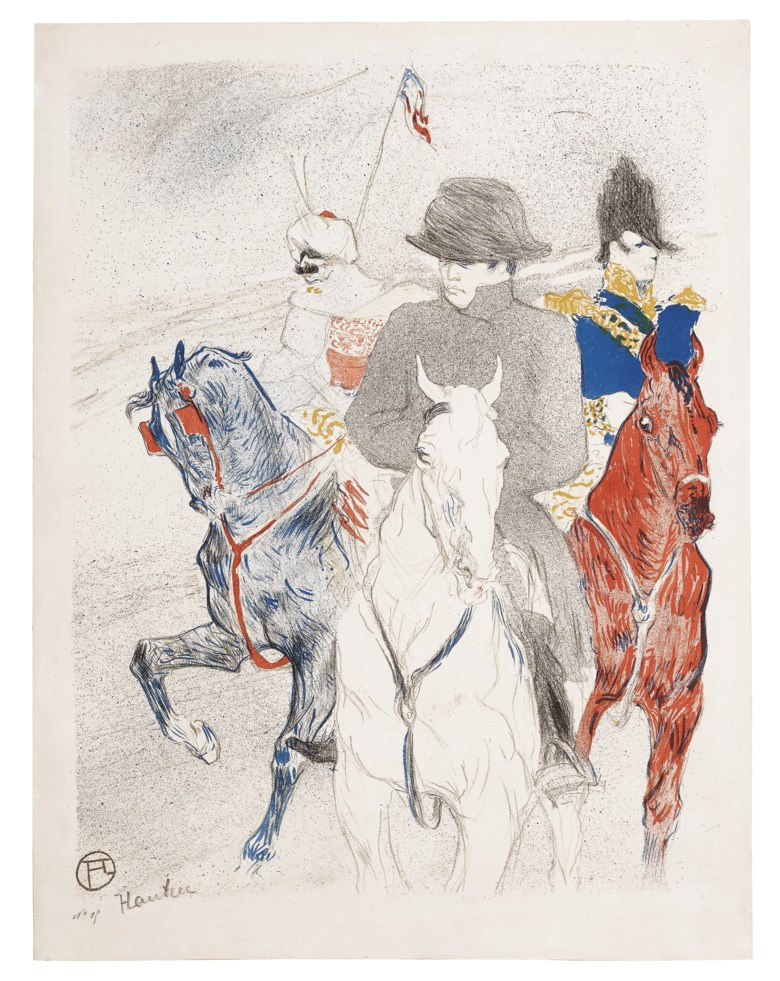 Henri de Toulouse-Lautrec (1864-1901), Napoléon, 1895. Lithograph in colours, on wove paper. Sheet 25⅝ x 19⅝ in (652 x 500 mm). Estimate $40,000-60,000. Offered in  The Collection of A. Jerrold Perenchio Chartwell An Henri Samuel Commission, 1-16 September 2020, Online