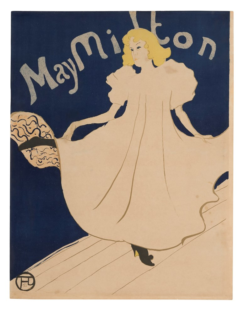 Henri de Toulouse-Lautrec (1864-1901), May Milton, 1895. Lithograph in colours. Sheet 31½ x 24⅜ in (801 x 618 mm). Estimate $6,000-8,000. Offered in The Collection of A. Jerrold Perenchio Chartwell An Henri Samuel Commission, 1-16 September 2020, Online