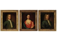 Three Portraits: A Lady and Two Gentlemen