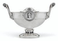 AN AMERICAN SILVER TWO-HANDLED CENTERPIECE BOWL