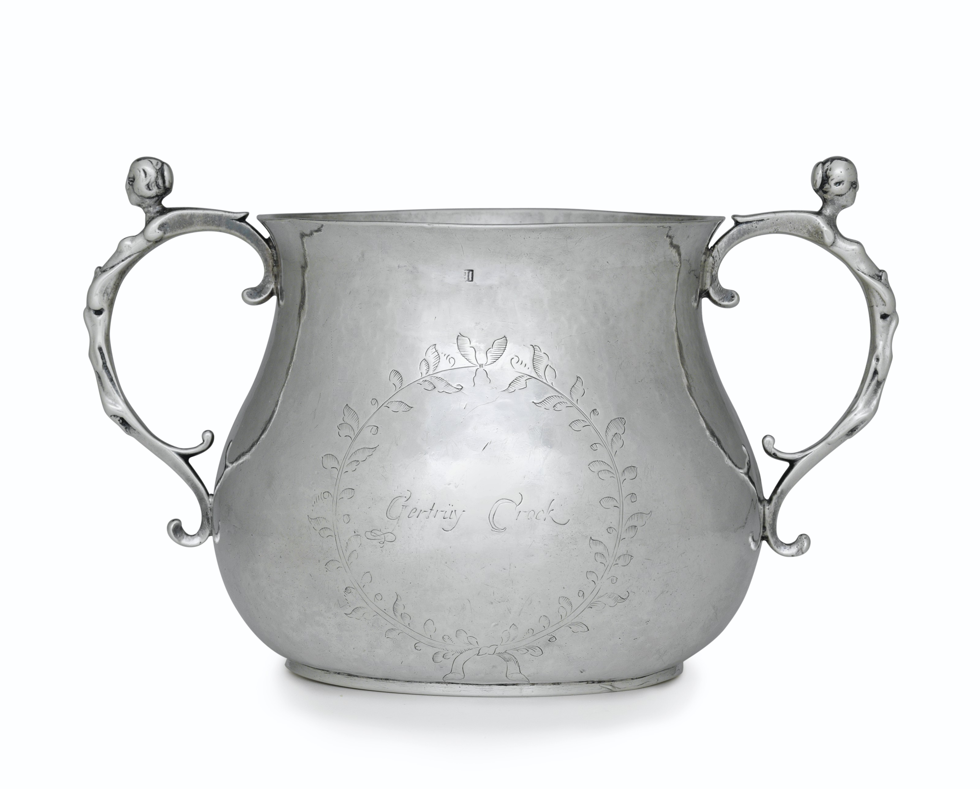 AN IMPORTANT SILVER CAUDLE CUP