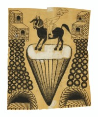 Untitled (Abstracted Landscape with Horse and Rider), circa 1960-1963