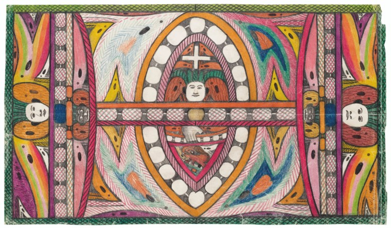 Adolf Wölfli (1864-1930), MaggingenLembinger (double sided), 1927. Coloured pencil and graphite on paper. 11⅜ x 20⅜ in (28.9 x 51.76 cm). Sold for $25,625 on 17 January 2020 at Christie's in New York
