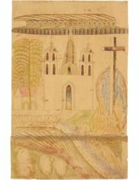 Untitled (Church and Cross), circa 1953