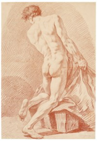 Male nude seen from the back