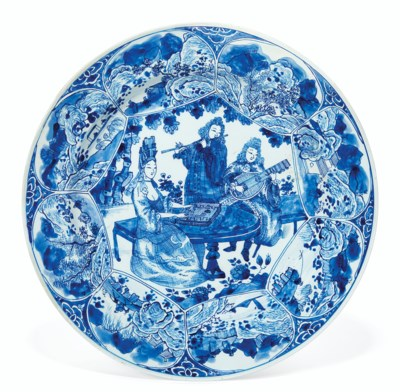 A BLUE AND WHITE 'MUSICIANS' D