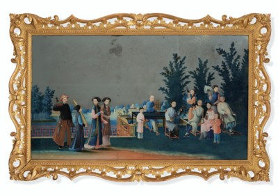 A REVERSE PAINTING ON MIRROR