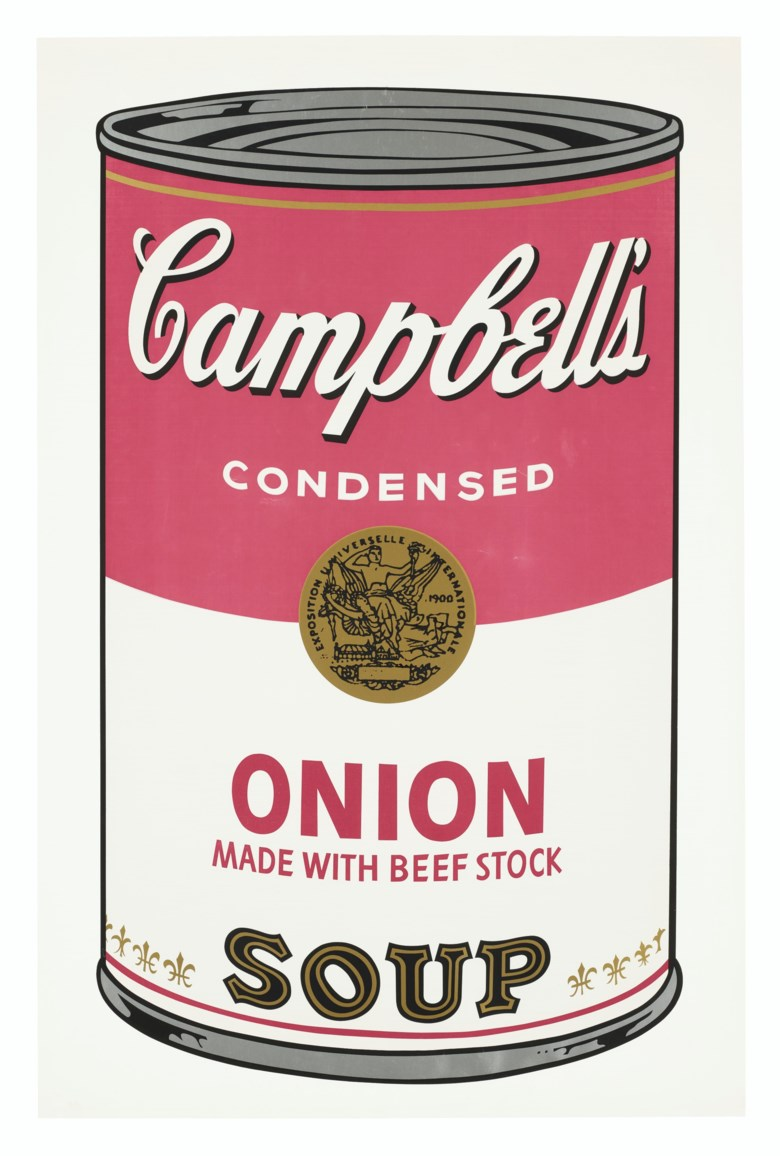 Andy Warhol (1928-1987), Onion, from Campbells Soup I, 1968. Screenprint in colours, on smooth wove paper. Sold for $25,000 on 4 March 2020 at Christie's in New York